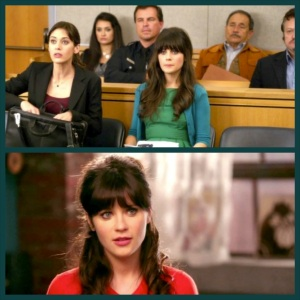 Zooey's adorable half up hair