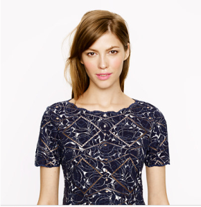 Close up of Printed Eyelet Top from Jcrew